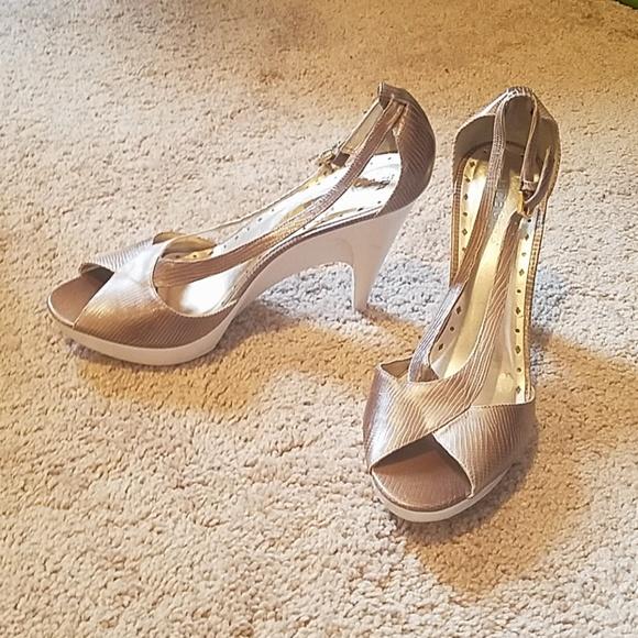 BCBGirls Shoes - BCBGirls Gold Pumps